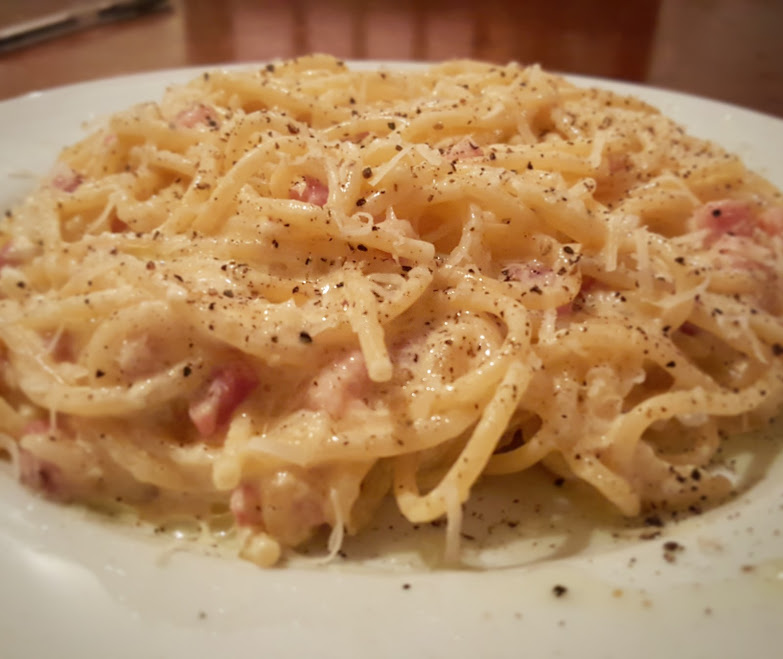 finished carbonara