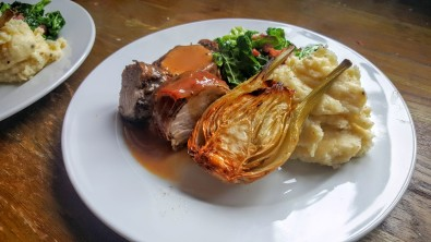 Roast Fennel with Pork food booze and reviews